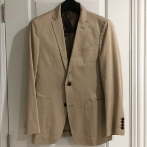 Burberry Black Label Khaki Cotton Sportcoat